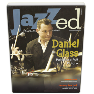 Daniel Glass on the Cover of JAZZed Magazine