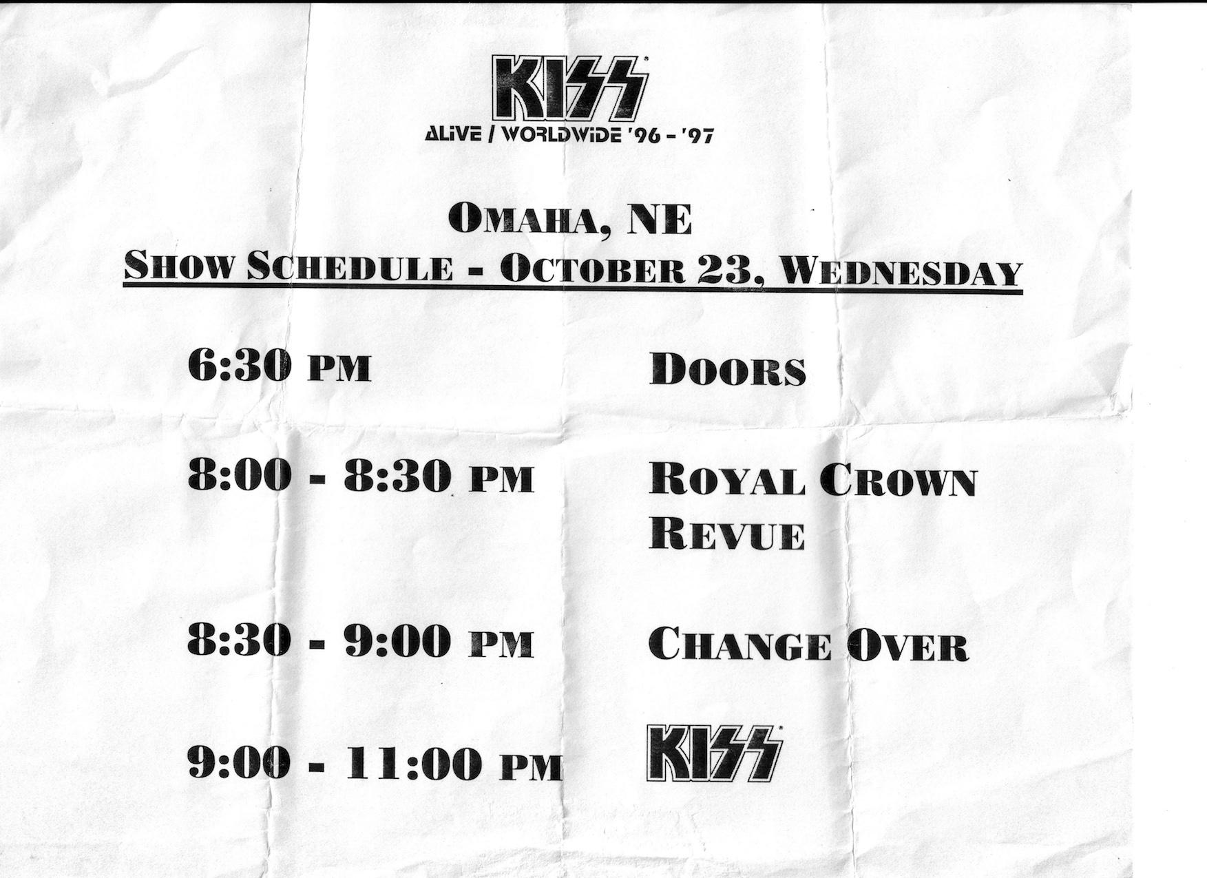 KISS Schedule1